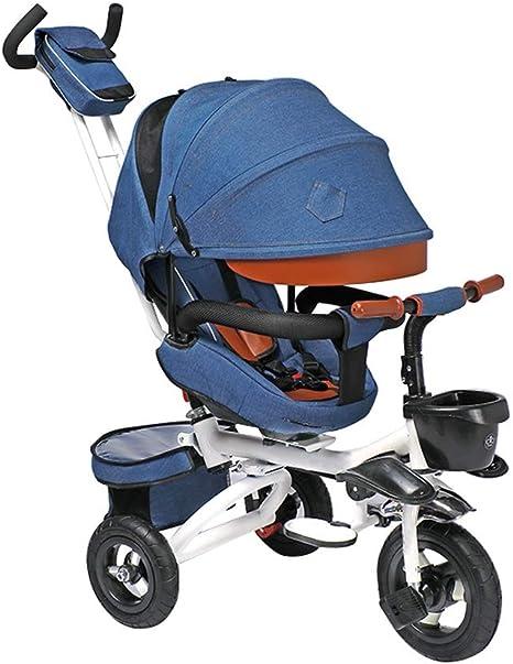 GYF Bicicleta Bebe ,Triciclos para Niños Kinderkraft Triciclo Bicicleta Bebe 1 Año para Niños con Capota Extraíble Y Plegable Azul Púrpura Gris Beige (Color : Blue) : Amazon.es: Deportes y aire libre