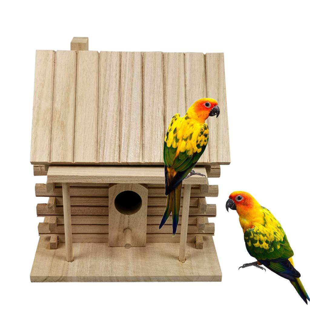 Aves Buleerouy Caja de nido de madera para pjaros Jardn vicela.jp
