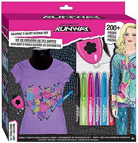 Fashion Angels Project Runway Graphic T-Shirt Studio-Box Set - Fashion Design Set