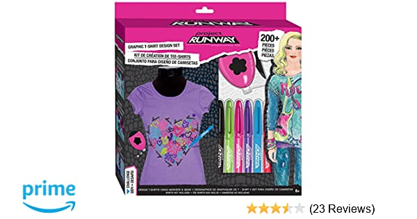 Amazon.com: Project Runway Fashion Angels Graphic T-Shirt Studio-Box Set: Toys & Games