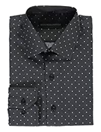 "Kids World Big Boys' ""Dots on Dots"" Dress Shirt"
