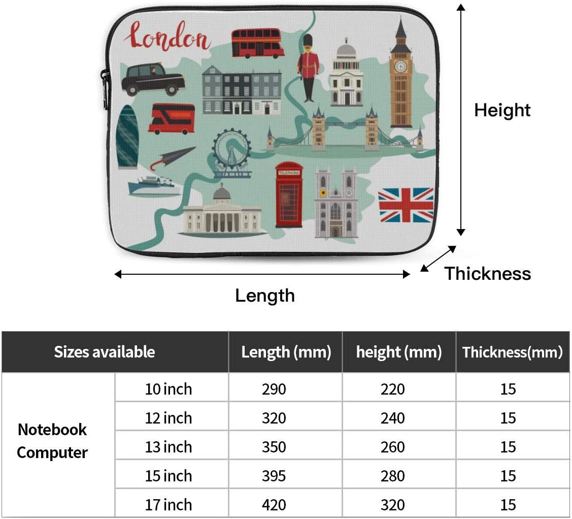 Cover MacBook Air 13 London Streets Colorful Big Ben Tower MacBook Air Laptop Case Hard Shell Mac Air 11//13 Pro 13//15//16 with Notebook Sleeve Bag for MacBook 2008-2020 Version