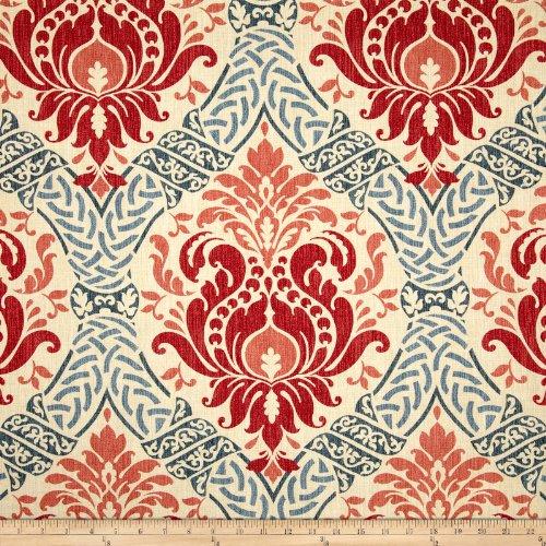 Waverly Home Decor Fabrics (Waverly Dressed Up Damask Poppy Fabric By The Yard)