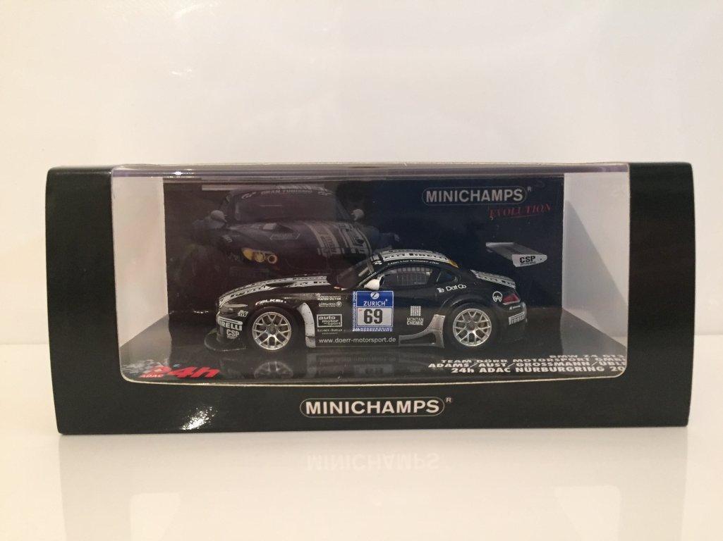 Minichamps – 437102069 – Fahrzeug Miniatur – BMW Z4 GT3 24 Stunden des Nürburgring 2010 – Echelle 1: 43
