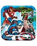 American Greetings Boys Avengers Epic Dinner Square Plate (8 Piece)