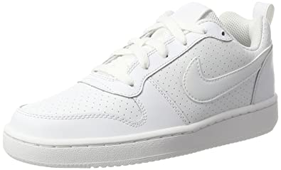 size 40 d3546 1e4df Nike Wmns Court Borough Low, Chaussures de Sport-Basketball Femme, Blanc ( Blanc
