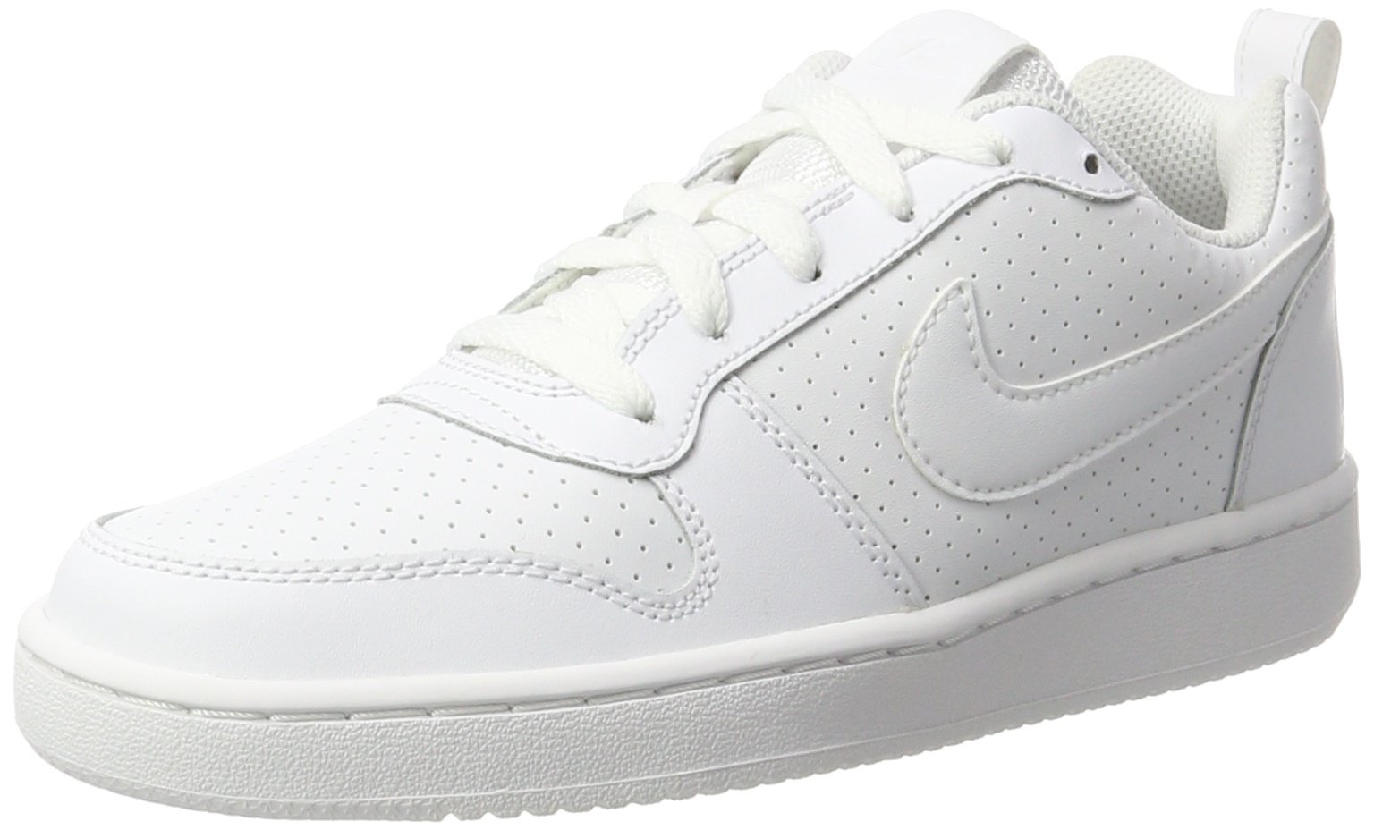 NIKE Women's Court Borough Low Sneaker, White/White/White, 8 B(M) US