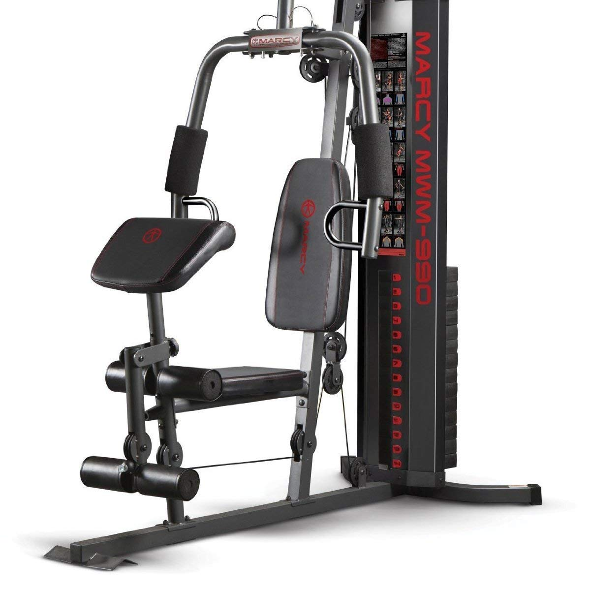 Marcy 150-lb Multifunctional Home Gym Station for Total Body Training MWM-990 by Marcy (Image #3)