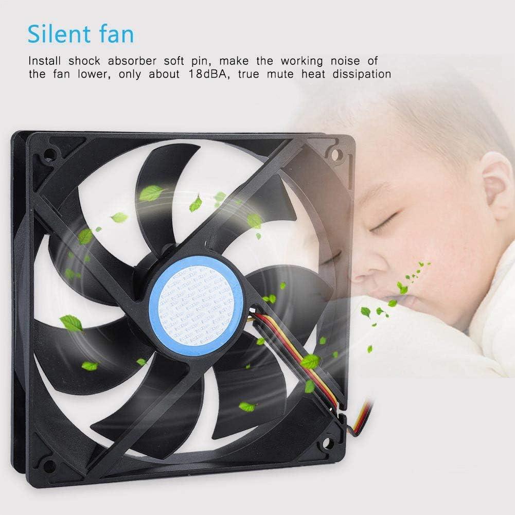 Pokerty Case Fan 12cm PC CPU Mute Cooling Fan Hydraumatic Computer Case Cooler Radiator Fan
