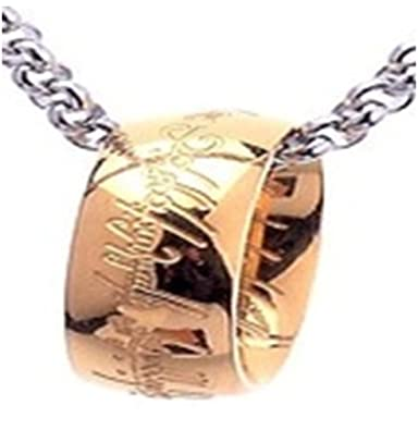 Hobbit Lord of the Rings Ring Pendant Necklace Gold Silver /& Gift Bag