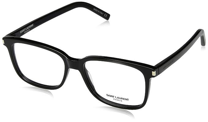 03e97f537e20 Image Unavailable. Image not available for. Color: Saint Laurent SL1 008  Black SL 1 Square Sunglasses ...