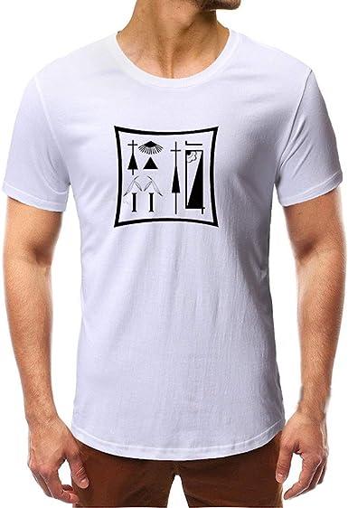 Camicetta A Maniche Corte A Maniche Corte Slim Casual di personalit/à della Moda Magliette Uomo Divertenti alla Moda Camicia Elegante Slim Fit Scont Primavera Estate
