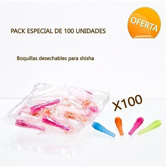 FumandoEspero Pack de 100 Boquillas de Plástico para Shisha o ...