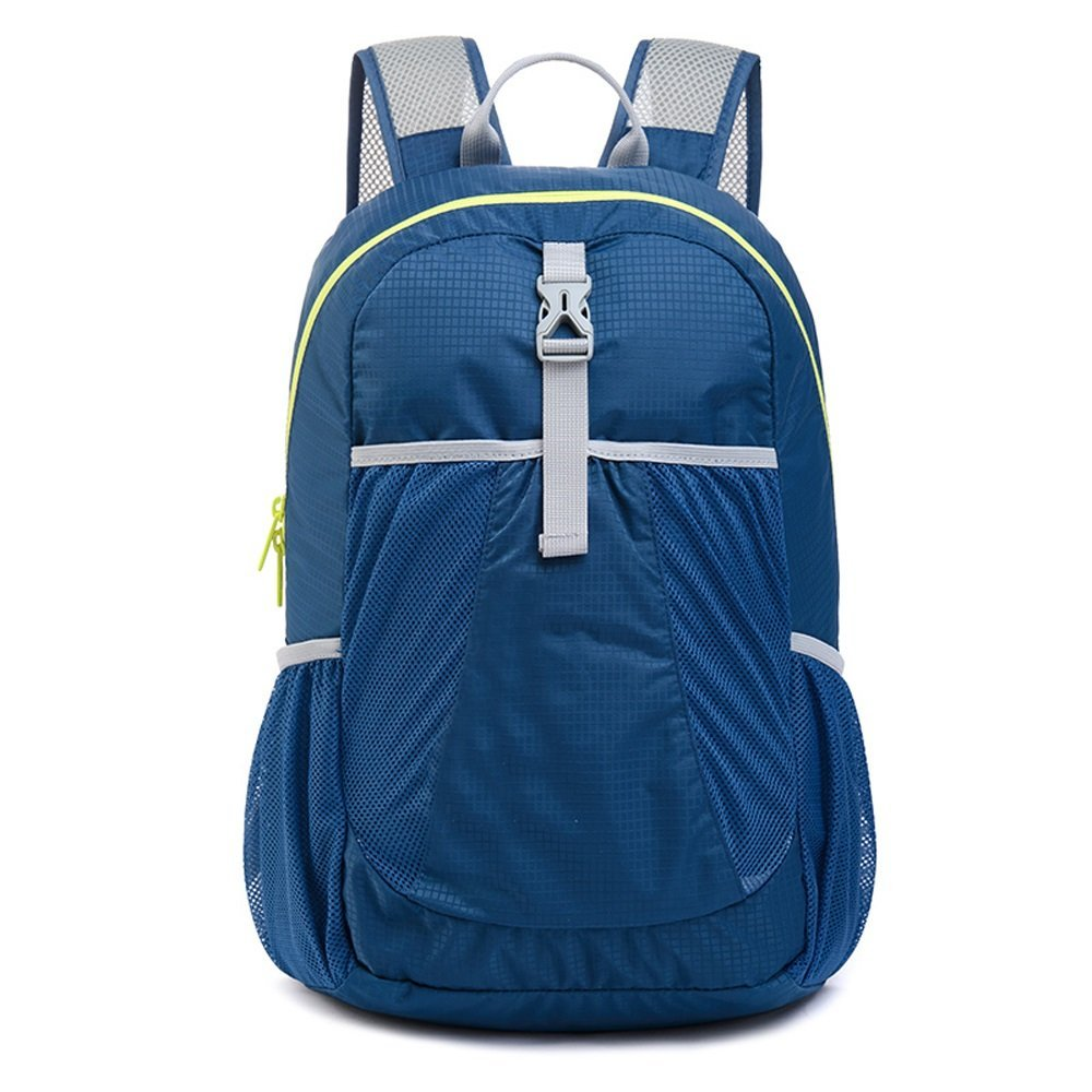 QAR Tourism Schulter Kleiner Rucksack Falten Ultra Leichte Tragbare Haut Tasche Wasserdichte Reise Wandern Klettern Peak-Paket Rucksack (Farbe : Marine)