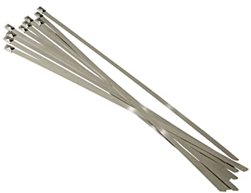 sans précédent meilleure qualité pour style top AERZETIX: 7.9mm x 400mm 40cm 10 colliers de serrage en métal inox acier  inoxydable C17073