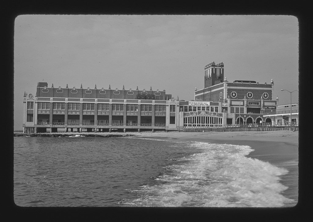 Vintography 8 x 12 BW Photo of: Convention Hall, Asbury Park, New Jersey 1978 Roadside America Margolies, John 48o by Vintography (Image #1)