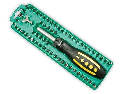 Proskit Destornillador y carraca 62 bit de accesorios, SD de 205 ...