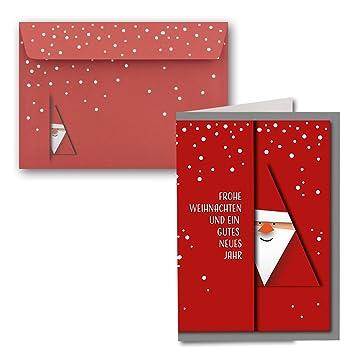 10x Weihnachtskarten Din A6 Alle Lieben Nikolausmit Brief