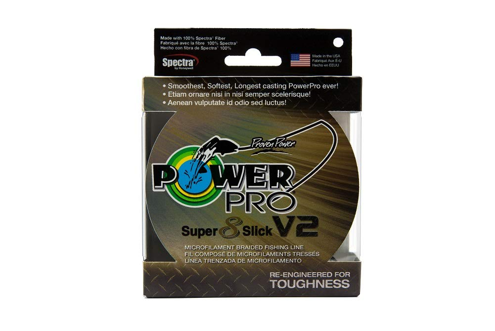 Power Pro V2 スーパースリック 8 編組釣り糸 30# 3000ヤード オニキスカラー