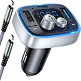 [2020 Upgraded Version] AINOPE Fm Transmitter Bluetooth for Car, 36W/6A PD&QC3.0 Bluetooth Adapter Car, 7-Colors LED Backlit V5.0 Bluetooth Radio Transmitter for Car, Wireless Call, Noise Cancellation
