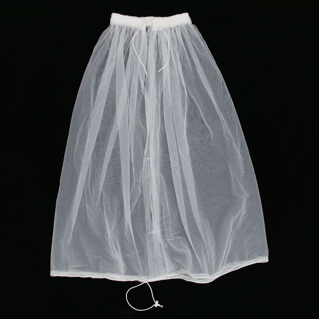 Sharplace Abito Da Sposa Gather Girt Slip Buddy Petticoat Underskirt Bathroom