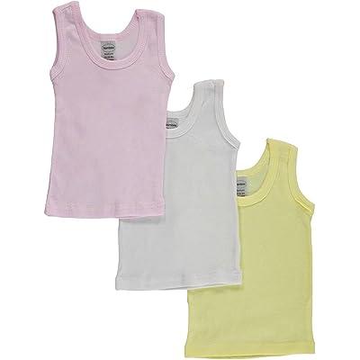 bambini Baby Girls' 3-Pack Sleeveless T-Shirts