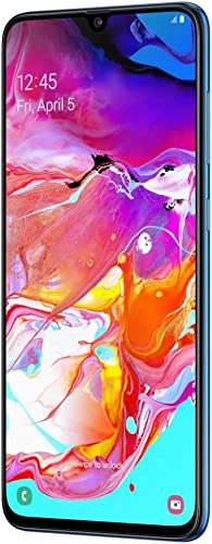 samsung galaxy a70 a705m 128gb duos gsm unlocked android phone w dual 32mp camera international variant us compatible lte blue