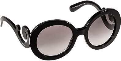 si Poesía Ausencia  Amazon.com: Prada Spr barroco 27 NS 1 AB-3 M1 Gafas de sol Para Mujer  Negro: Shoes