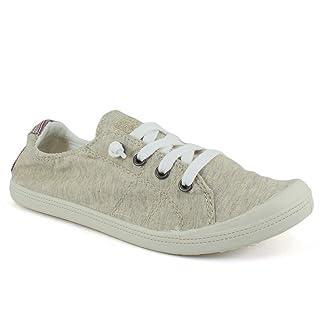 Dunes Sport Women's Reesa Canvas Sneaker, Natural, 8