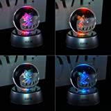 AXAYINC 3D Crystal Ball Night Light with Stand 7