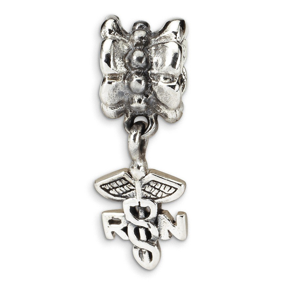 Jewelry Beads Themed Sterling Silver Reflections Nurse Symbol Dangle Bead