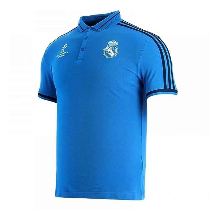adidas Real Madrid UCL Poloshirt-Blau Camiseta, Hombre: Amazon.es ...