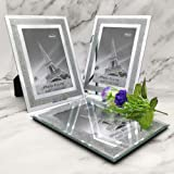 Meetart Sparkle Crystal Silver Glitter Mirror Glass