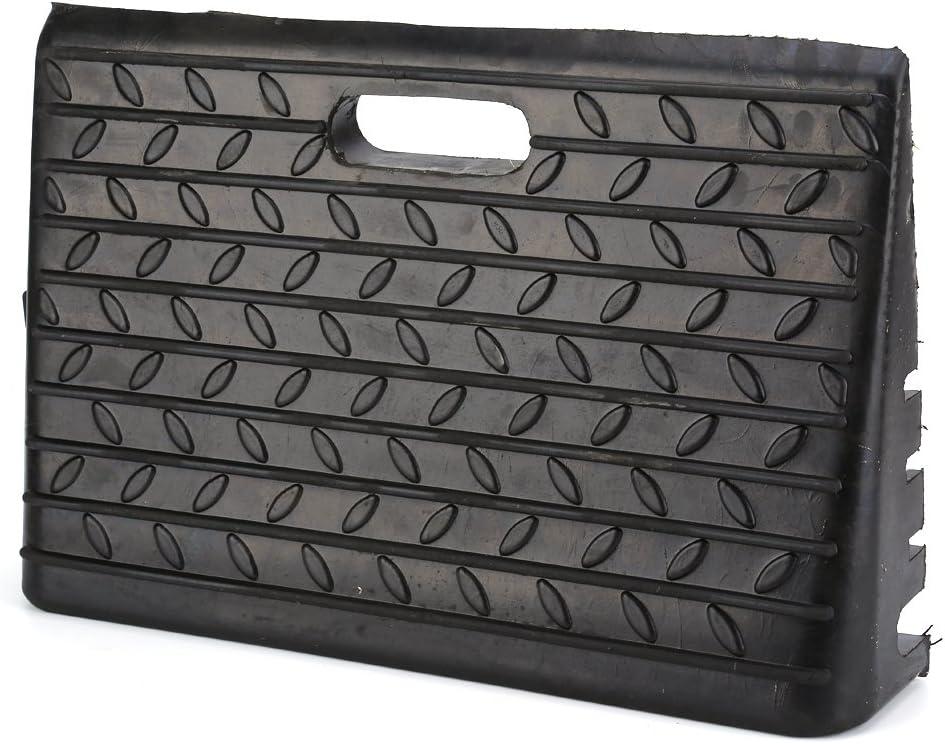 antiscivolo 48,5 x 30 x 9,5 cm 2 rampe di gomma per bordi rampa di gomma portatile e durevole