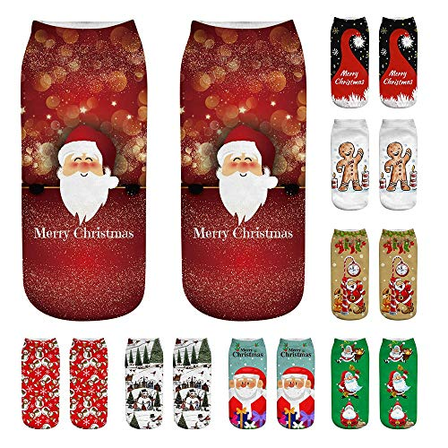 Cute Socks P Christmas Cut sunnymi 3D Ankle Fashion Soft Printed Low Casual Socks Unisex Funny 1886ZwOq