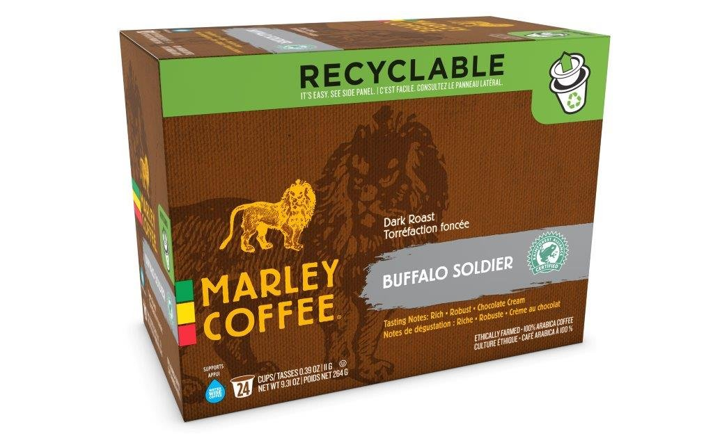 Amazon.com: Marley Dark Roast Coffee, Buffalo Soldier, 24 Count: Prime Pantry