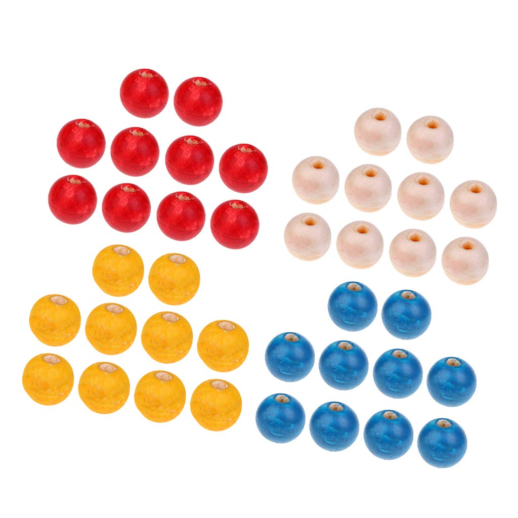 LOVIVER 40 Packs PVC Rope Floats for Pools, Fishing Nets, Ski Ropes, Anchor Lines, Marker Buoys, Swimming Lanes - 10cm Ball by LOVIVER