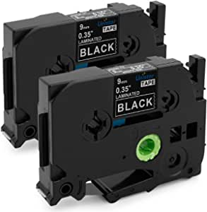 6X Pristar 9mm Compatible Cintas para Brother TZe-325 TZ-325 TZe325 Tz 9mm Blanco sobre Negro para P-Touch PT-H105 D210 H100 E110 H107B H110 H100LB D600VP H100R H200 E300VP P300BT 1080 PT-P710B