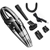 Vacuum Clean, IDEA-TECH Wireless Car Home Vacuum Cleaner, Rechargeable Vacuum Cleaner, 12V 120W Portable Handheld, Wet And Dry Dual Use (Black)