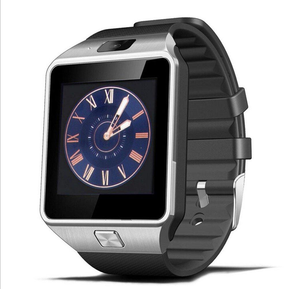 Reloj Inteligente, Jukkarri Reloj Deportivo de Actividad, Reloj con Bluetooth y Ranura para Tarjeta SIM para Usar Como Teléfono Móvil, Podómetro Inteligente ...