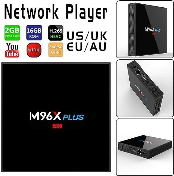 TV Box Android 7.1, M96 X Plus Smart TV boxs s912 Doble Banda Wi-Fi + Bluetooth 2 GB DDR 16 GB emmc, 4 K 2,4 GHz Ultra HD Wifi Netzwerk Media Player:
