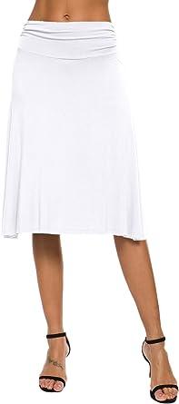 EXCHIC Falda de Yoga para Mujer con Mini Llamarada: Amazon.es ...