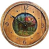 Amazon.com: Wood Mantel Clock Primitive Country Rustic ...
