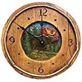 Rustic Moose Cabin Decor Wall Clock Review