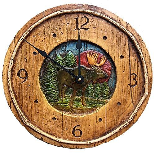 Rustic Moose Cabin Decor Wall Clock Review