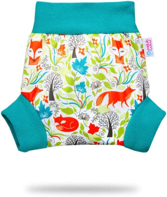 Waterproof Petit Lulu Pull Up Diaper Wrap Sizes XS//S//M//L//XL Reusable /& Washable School Jungle, Size S Made in Europe Easy /& Quick Changing