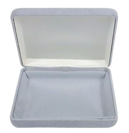 Tom David Lewis Jewelry Display Gift Box Grey Velvet Holds Bracelet Necklace Belt Buckle