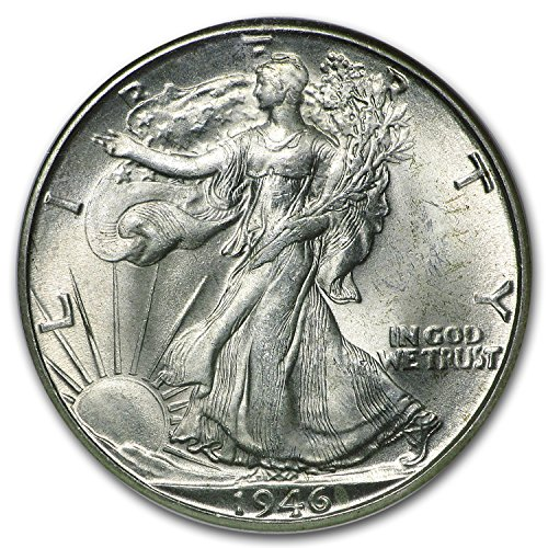 Walking liberty half dollar coin ms65