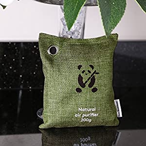 Bamboo Charcoal Air Purifier by ZooBamboo | Fragrance Free Odor Eliminator Freshener Deodorizer and Dehumidifier for Smell Smoke and Allergies - Get Quality Car Home Sport and Pet Accessories Today!