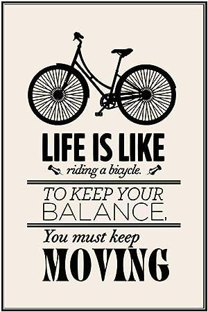 pegatinas de pared baratas La vida es como andar en bicicleta para ...